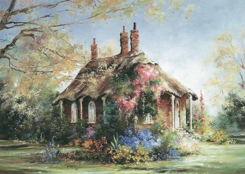 165eba0f0d915B15D.jpg (840×596) Cottage art, Fine art, Art