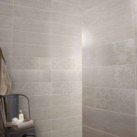Faience Mur Blanc Sequoia L 20 X L 60 Cm Parement Mural
