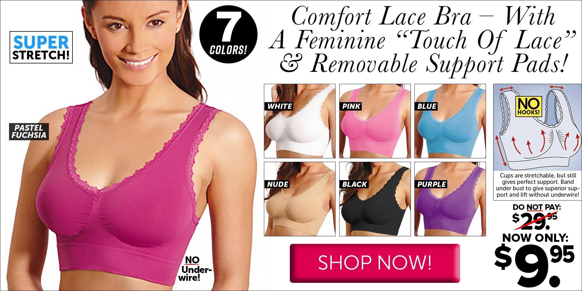 4c3eadf370 Comfort Lace Bra - White