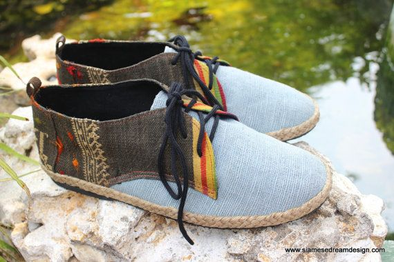 Vegan Oxford Men's Shoes In Natural Hemp & by SiameseDreamDesign