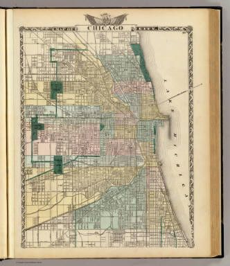 Douglas Park Chicago Map.Historic Map Of Chicago Showing The Necklace Of Green Around The