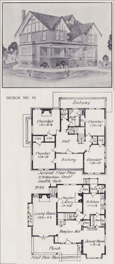 Tudor house plan seattle vintage residential for Western homes floor plans