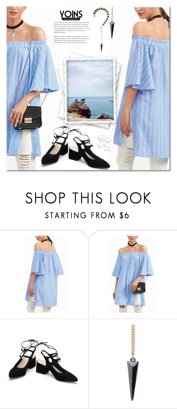 """Yoins VII/17"" by soofficial87 ❤ liked on Polyvore featuring Valentino, yoins, yoinscollection and loveyoins"
