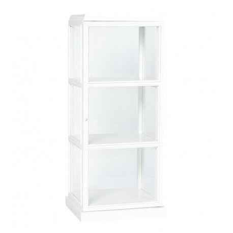 Petite armoire blanche vitrée Hübsch - Décoration intérieure et ...