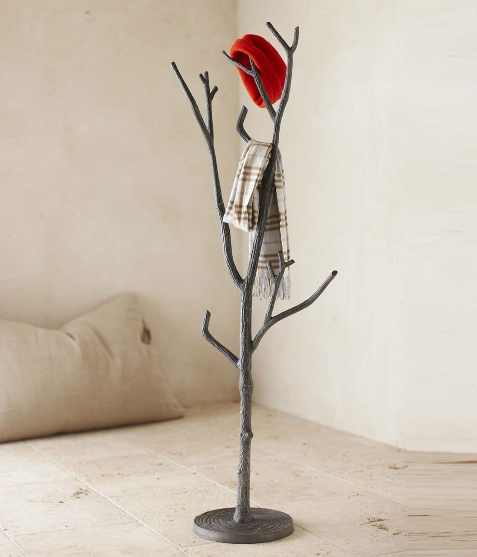 cast in metal with a rich bronze finish its sturdy upper branches . bronze branch coat tree  vivaterra  i want this by the front door totemporarily hold guest's coats