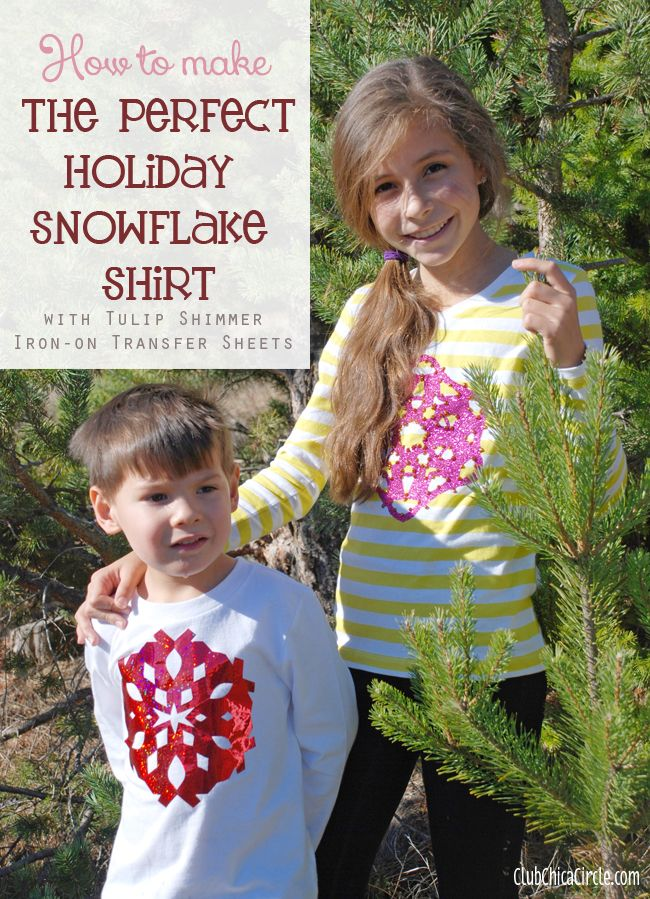 How to Make the Perfect Holiday Snowflake Tshirt Tween