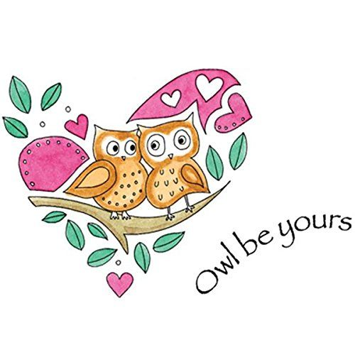 """Penny Black Cling Rubber Stamp 4""""X5"""" Owl Be Yours: Amazon.co.uk: Kitchen & Home"""
