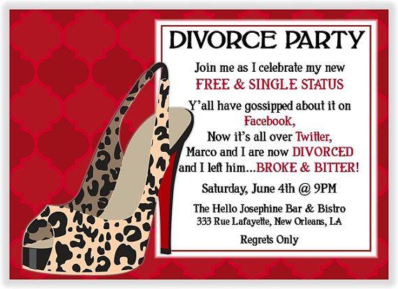 Divorce Invitation by ButterflyandLadybug, The wording is