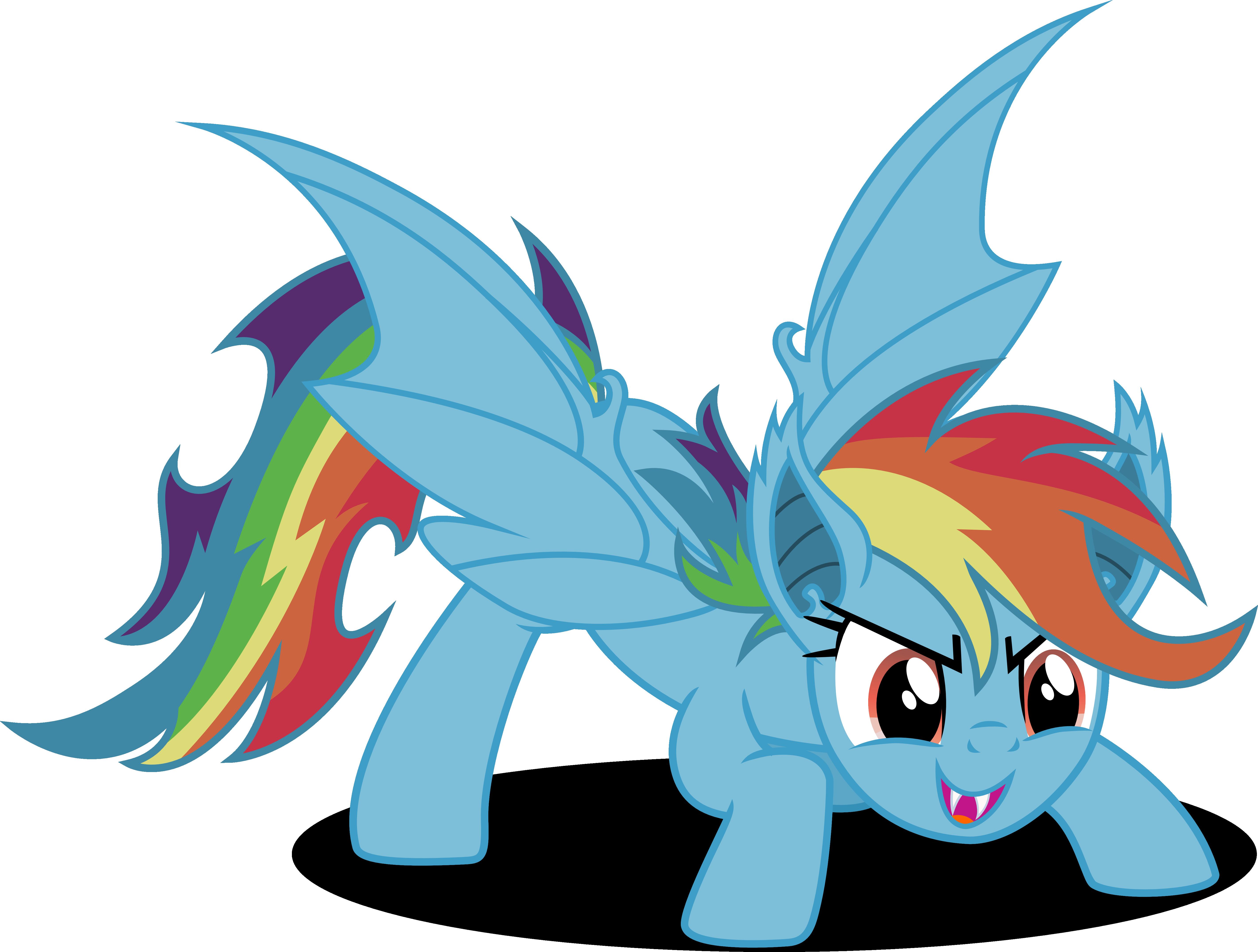 rainbow bat by vector brony deviantart com on deviantart brony