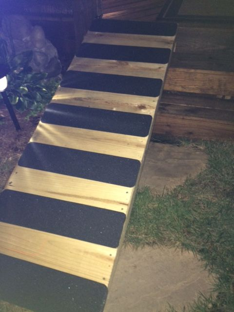 No Skid Dog Ramp For Over The Deck Stairs No Skid Tape