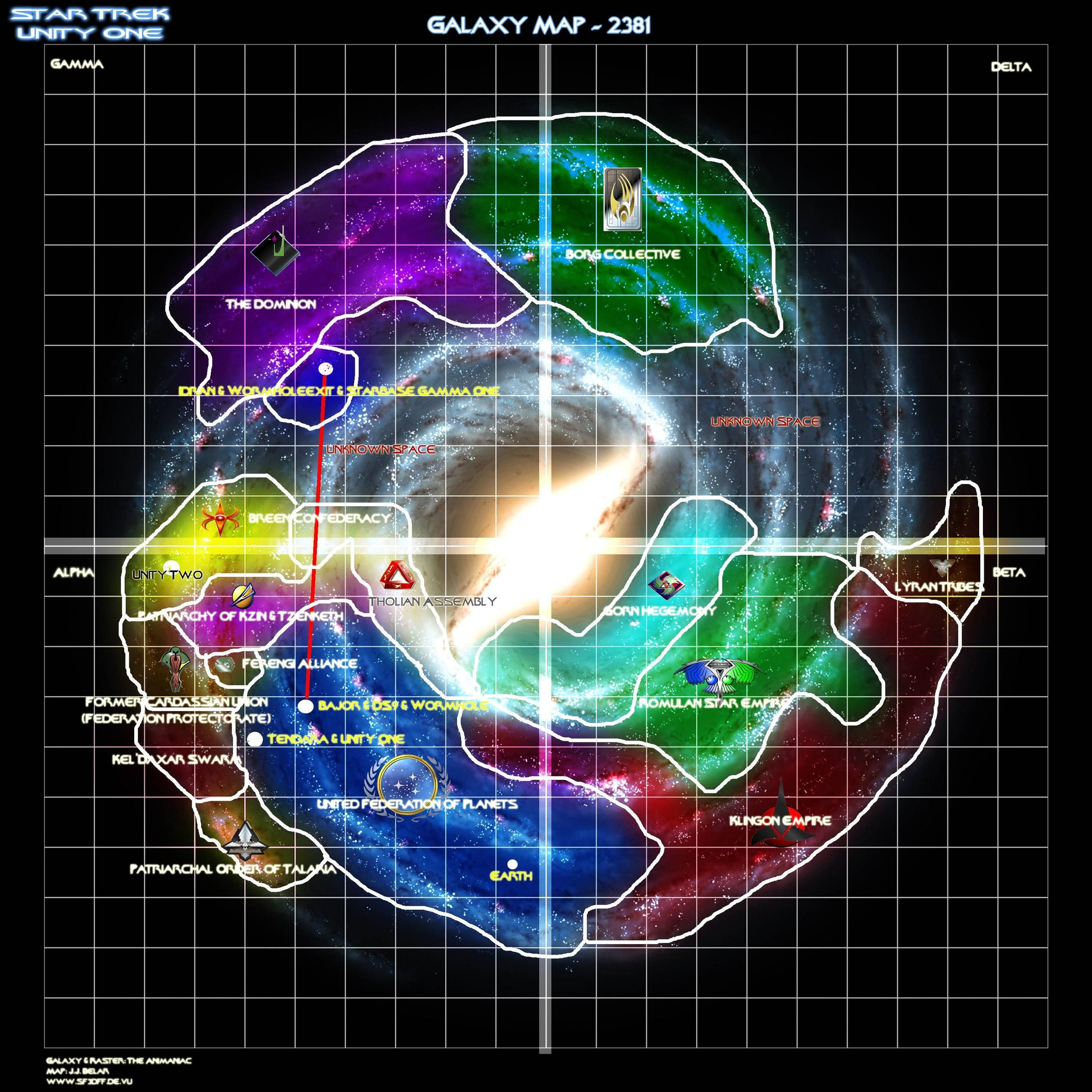 map of delta quadrant voyager  Google Search  Starships