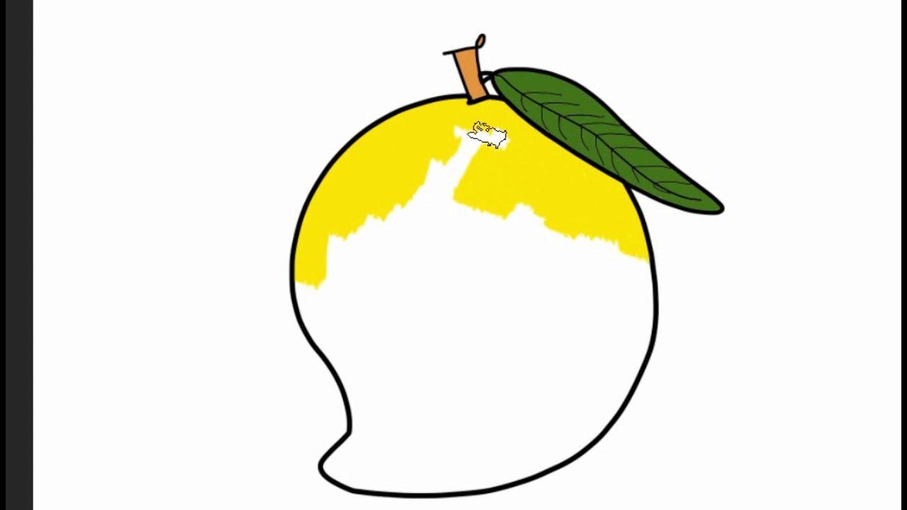 How To Draw Mango Fruits For Kids Https Youtu Be 6uyiy8q3ayu