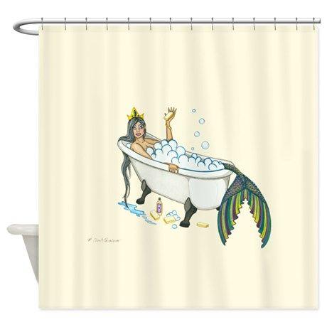 Splish Splash Mermaid Shower Curtain On Cafepress Com Mermaid