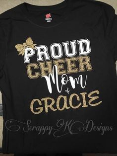 53191d680535 Cheer Mom Shirt Proud Cheer Mom Shirt Cheerleading Mom and on the back we  could have a large WQE so cute!!!