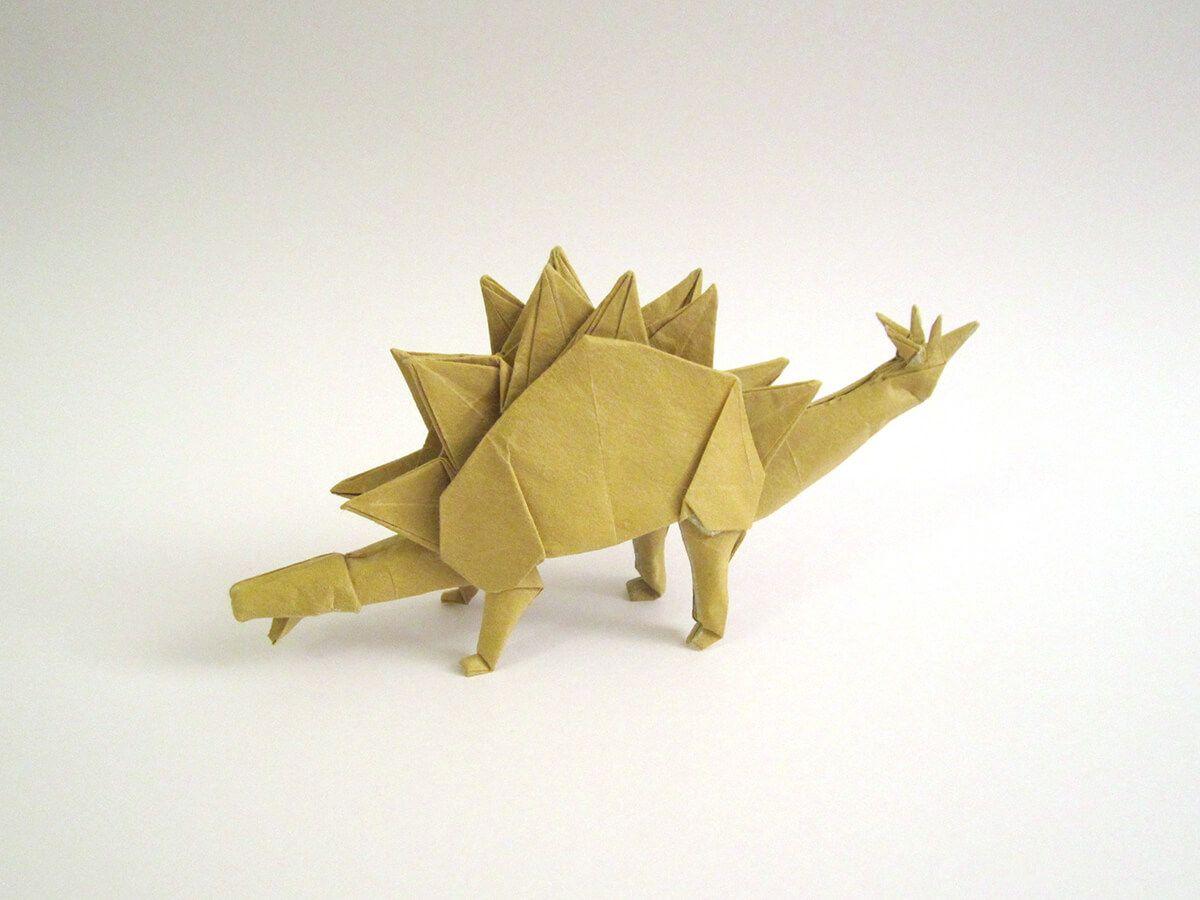 Photo of Stegosaurus, Designed and Folded by Tetsuya Gotani