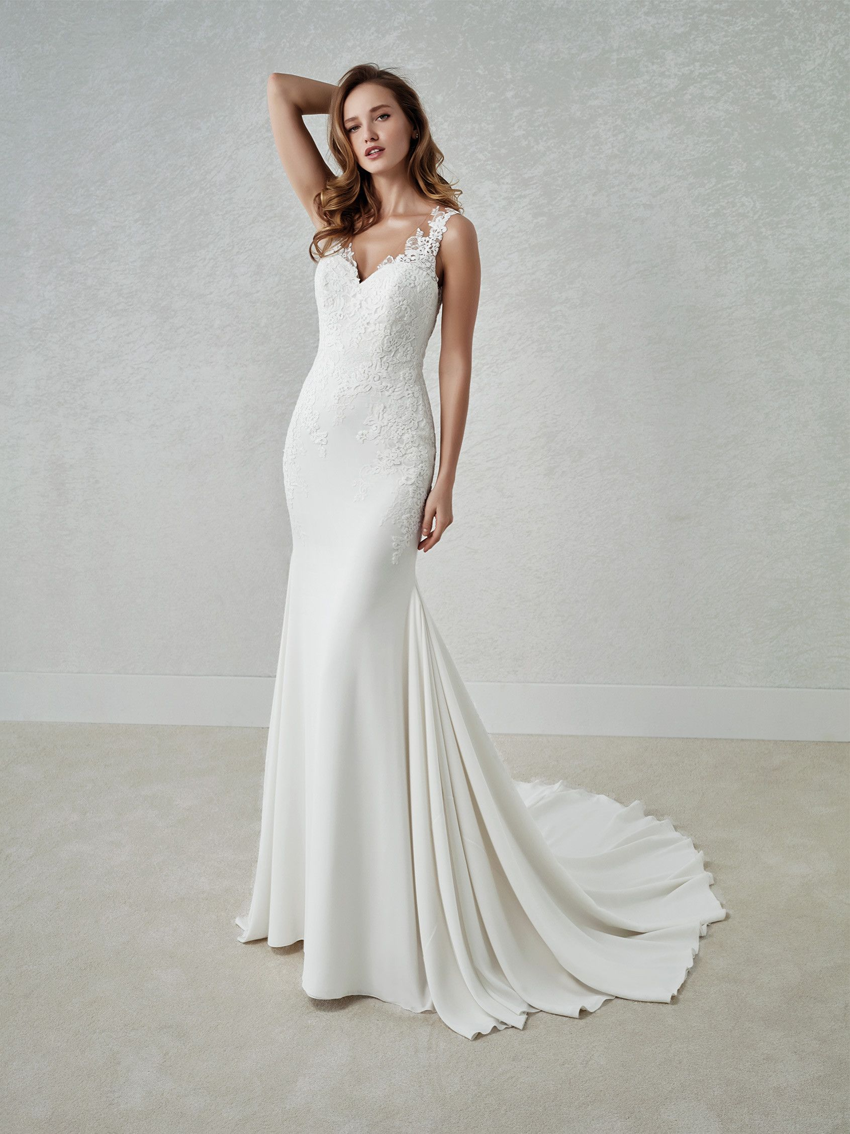 White One Collection By St Patrick Fina Lovely Mermaid Wedding Dress With A Two Piece Effec Wedding Dresses Wedding Dresses Satin Satin Mermaid Wedding Dress [ 2255 x 1691 Pixel ]