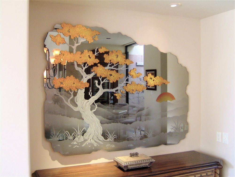 Search For Piece Sans Soucie Art Glass Mirror Wall Art Etched Mirror Mirror Wall Decor