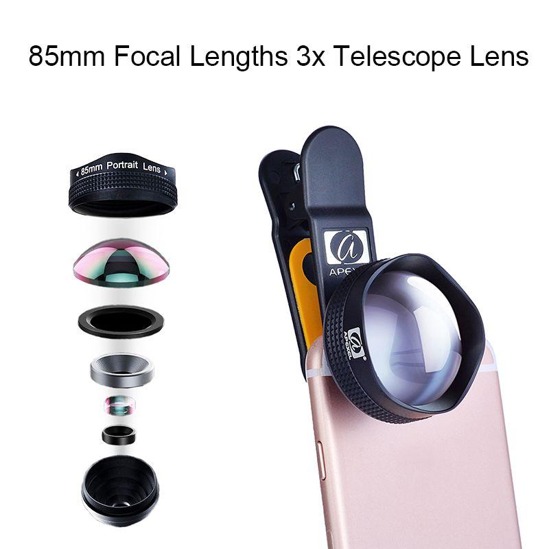 low priced ee4d7 d44fd 85mm Focal Lengths 3x Telescope Lens Professional Portrait HD Mobile ...