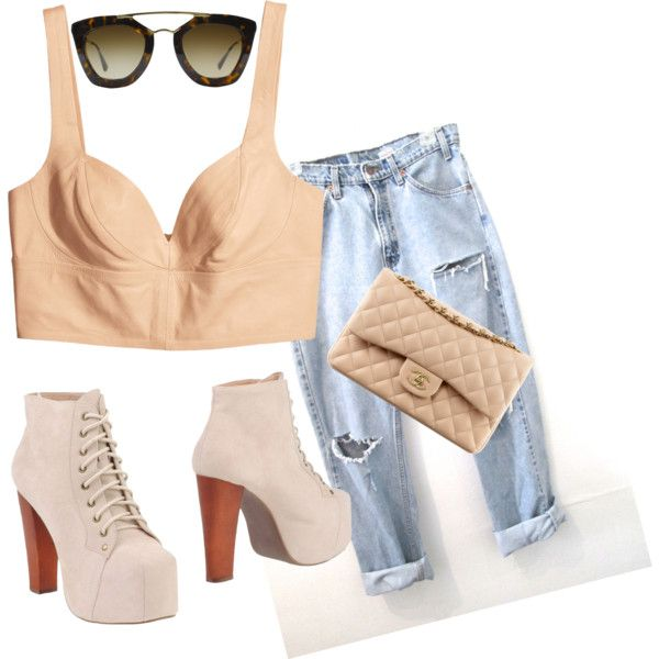 """Nude"" by lareau-catherine on Polyvore"
