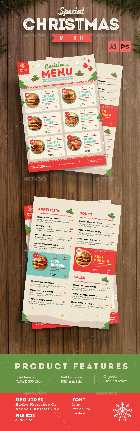 Special Christmas Menu Pinterest Menu Menu Templates And Food