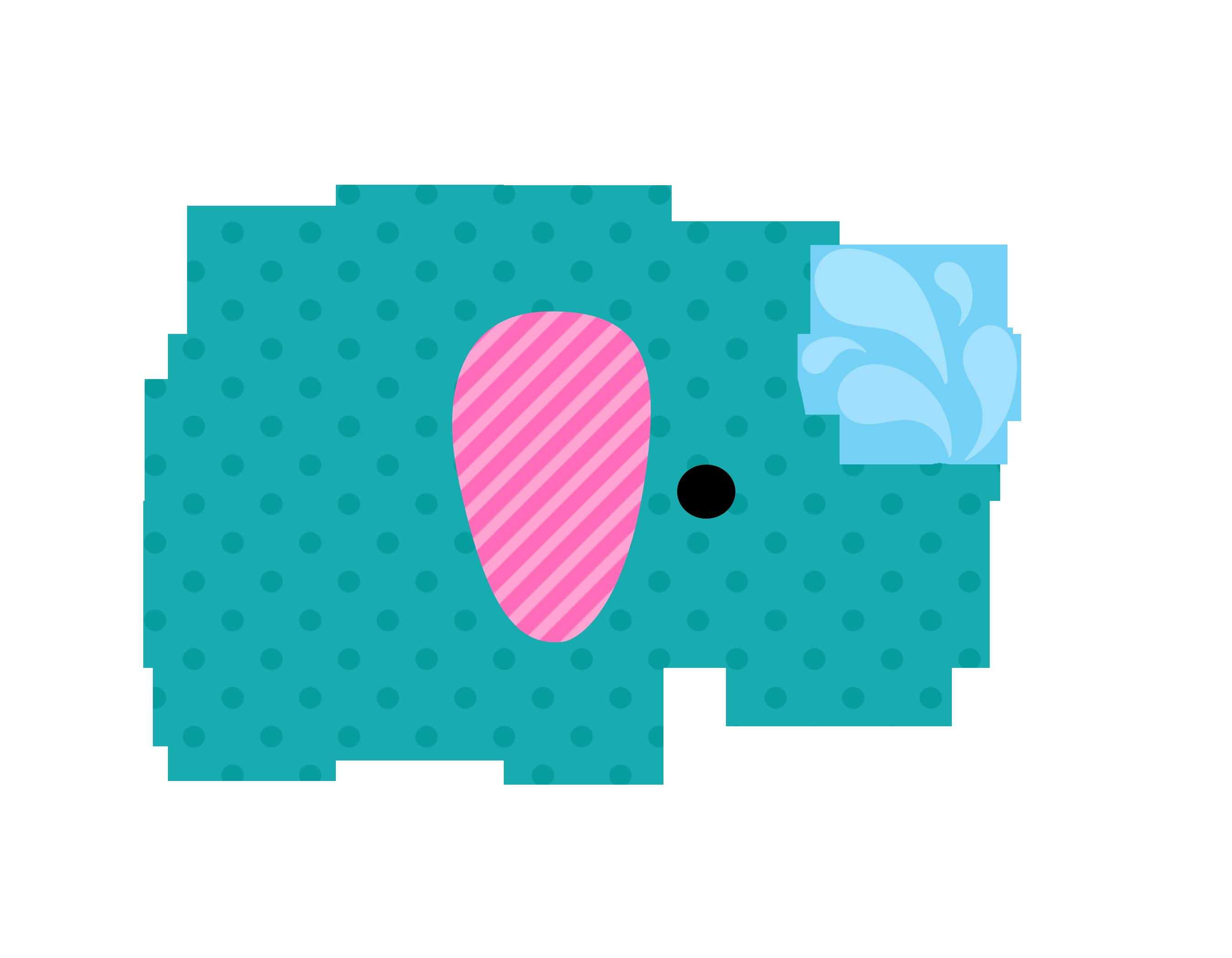 Elefantes minus clipart - Dibujos pared bebe ...