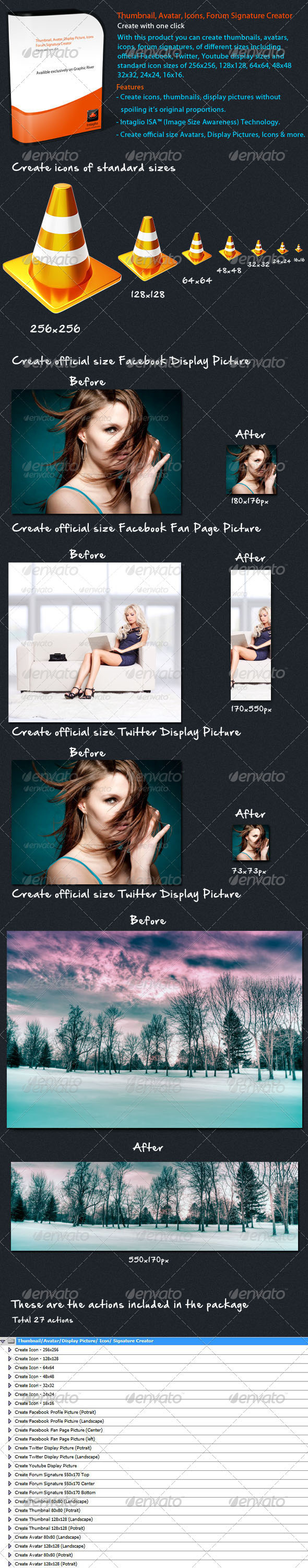Thumbnail, Avatar, Signature Creator #GraphicRiver With this product