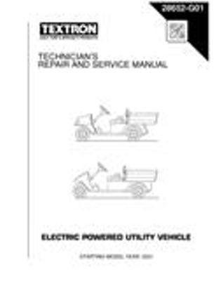 ezgo 28652g01 2001 2003 technician s repair and service manual for rh pinterest com ezgo repair manual download ezgo repair manual 28426-g01