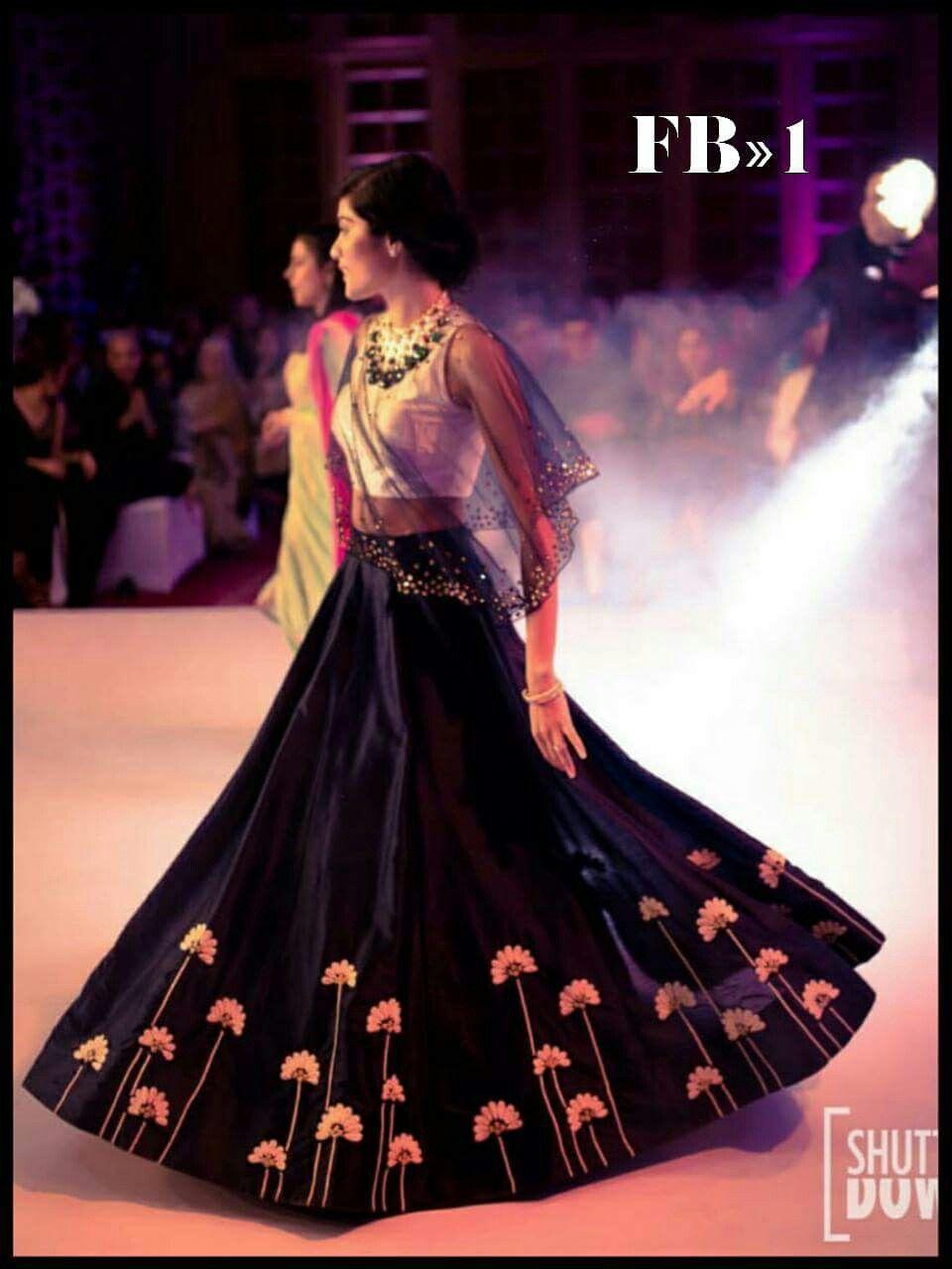 Designer lehenga choli collection with cape boutique designer
