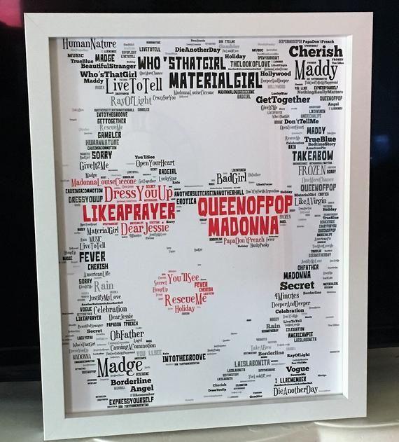 Madonna Music Icon Memorabilia Word Art Unique Collectible