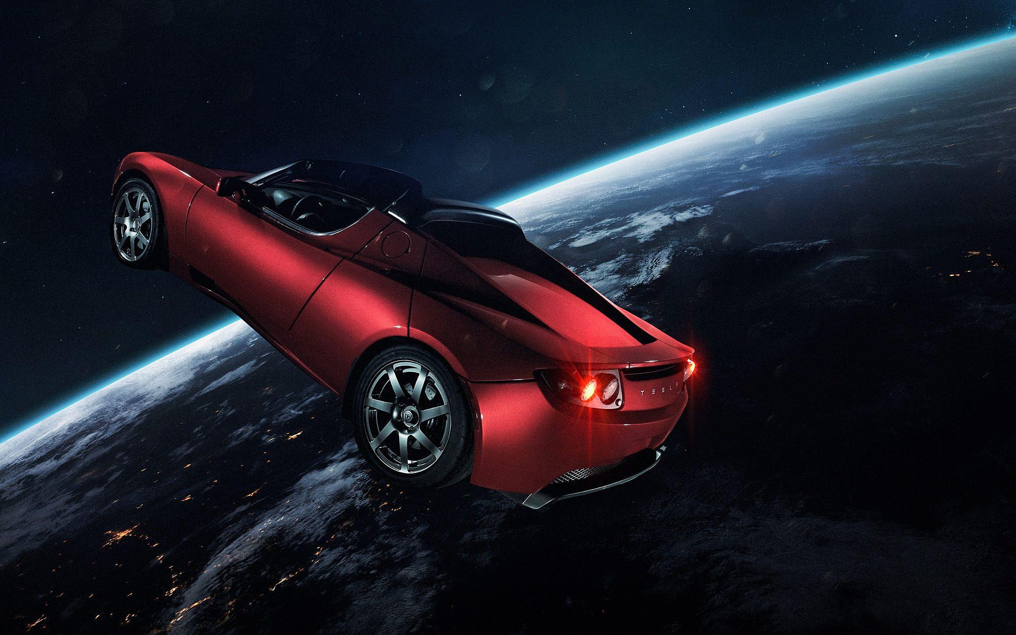 Tesla In Space By Vadim Sadovski Tesla Roadster Tesla Elon Musk Tesla