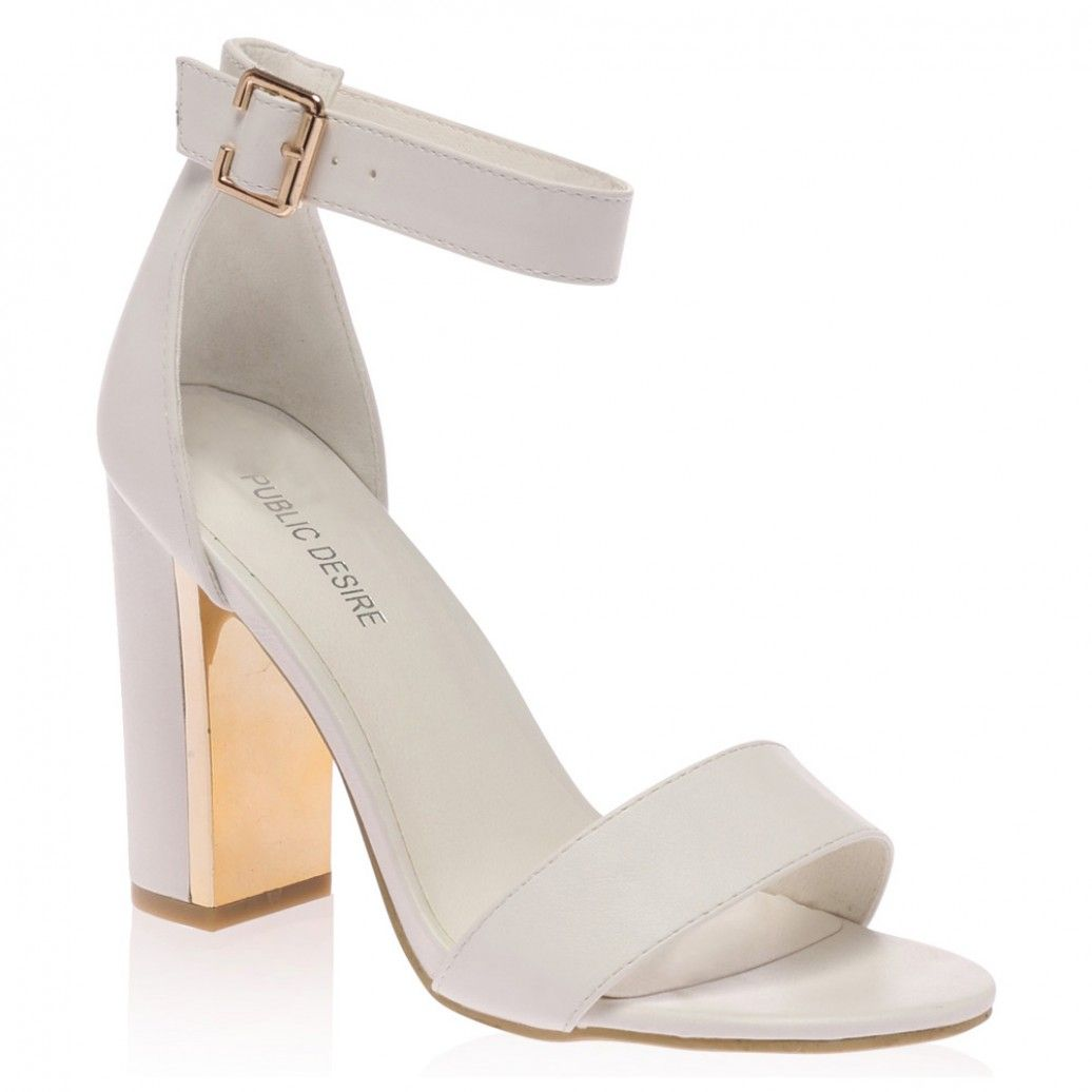 62461cee433 Alana White Block Heeled Sandal from Public Desire