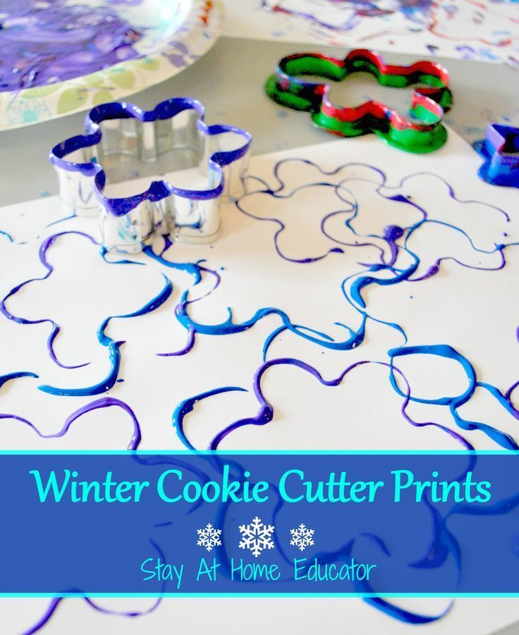 Photo of Winter Cookie Cutter Art – Stay At Home Educator