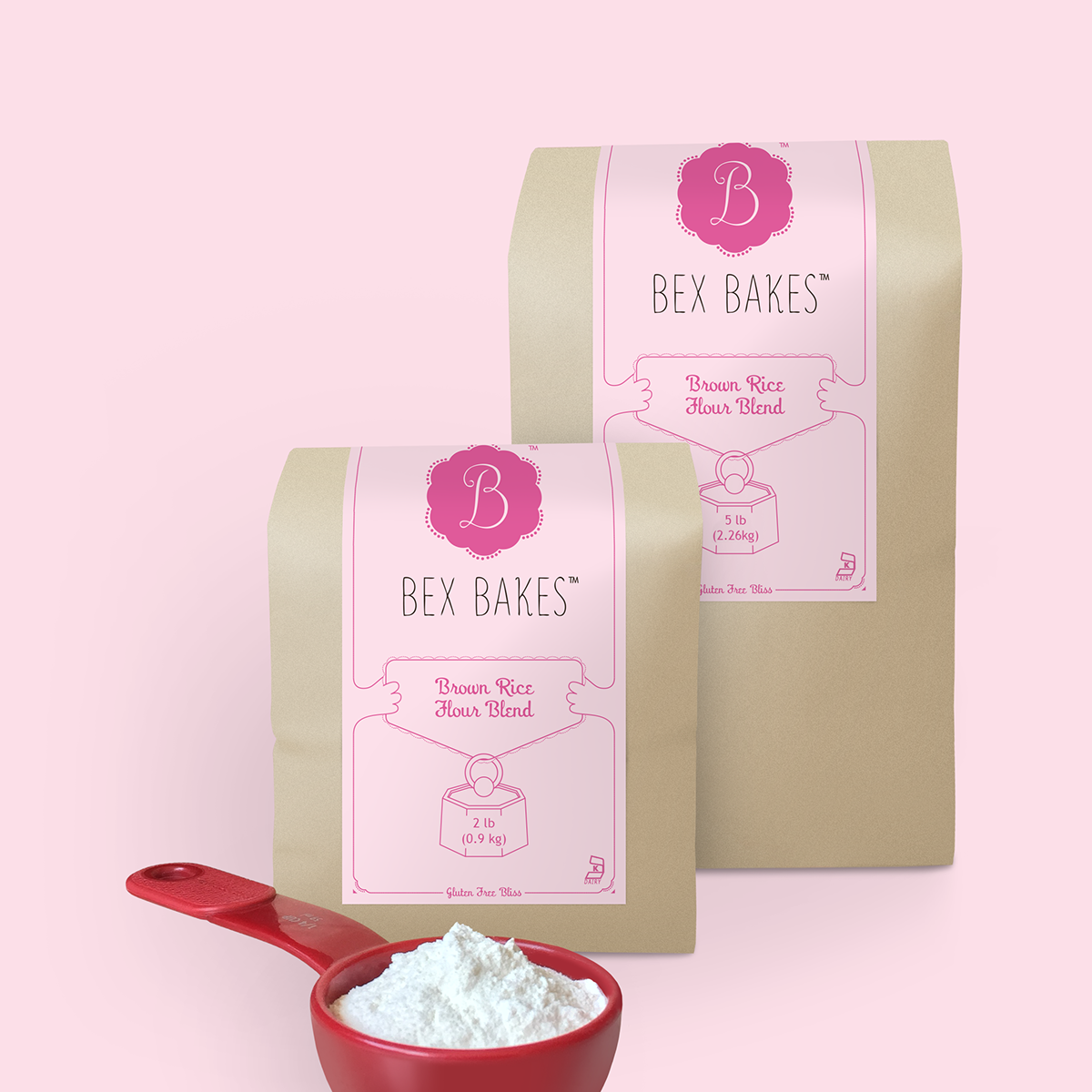 Bex Bakes Brown Rice Flour Blend Packaging on Behance