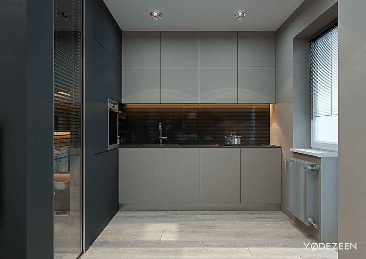 Studio Apartments Are Notoriously Difficult To Decorate Pleasing Kitchen Design For Flats Design Ideas