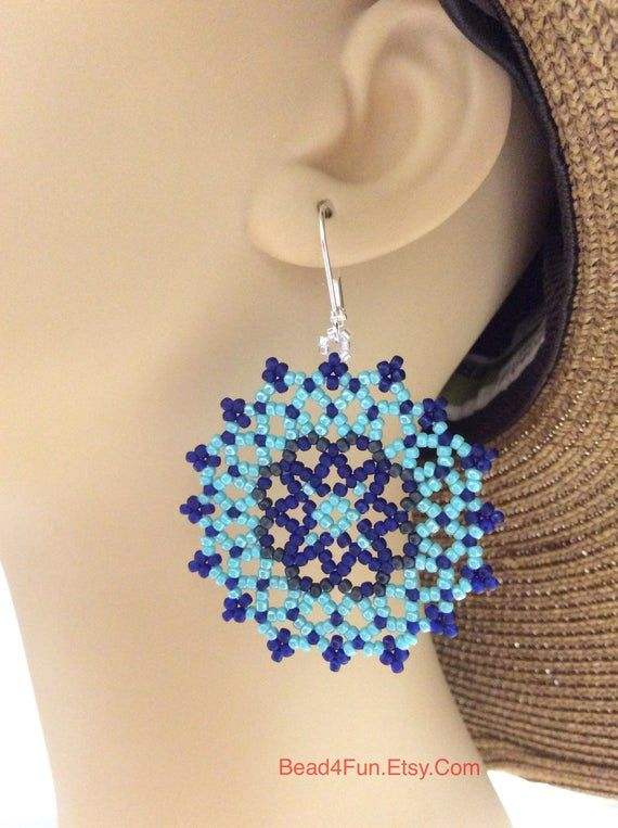 "Seed Beaded Earrings, Name: ""Mixed Messages"" 