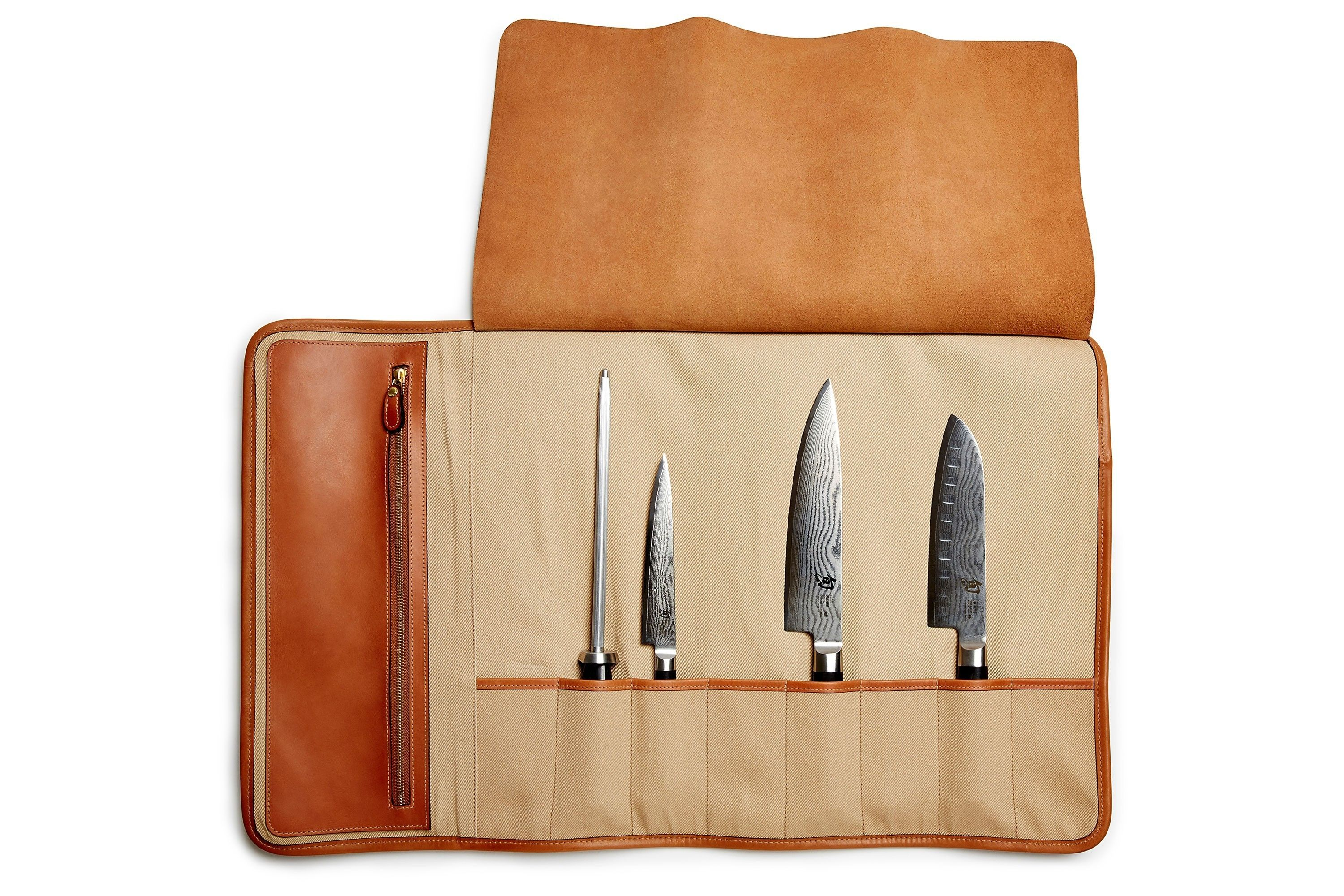 Fundas Para Cuchillos De Cocina Leather Knife Roll Chef S Knife Roll In Chestnut Leather