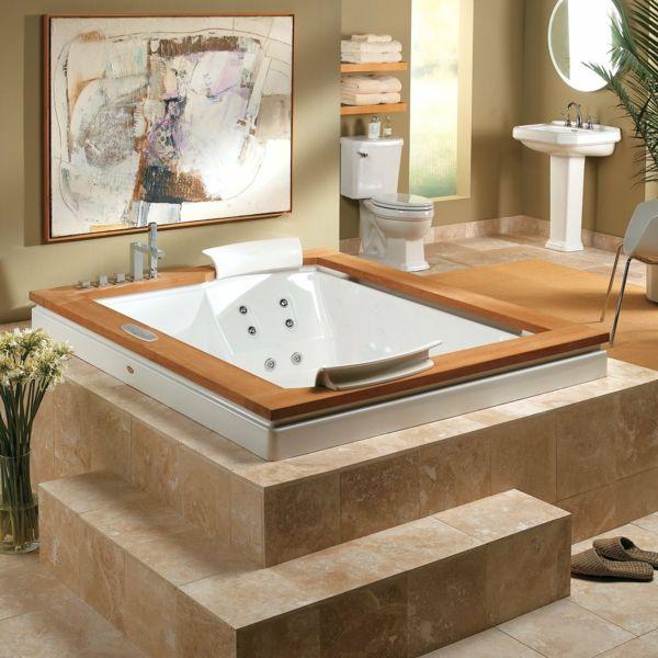 Integrierte Whirlpool Badewanne