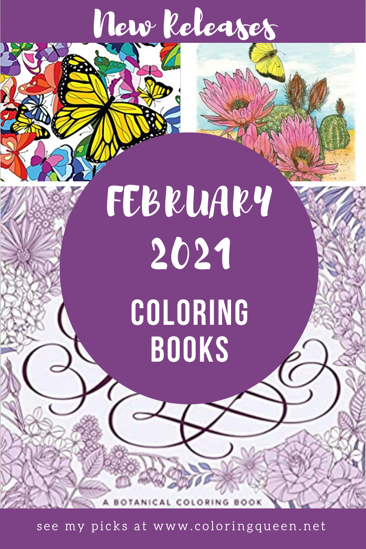 Coloring Books New Releases February 2021 Coloring Queen In 2021 Coloring Books Books New Releases Grayscale Coloring Books