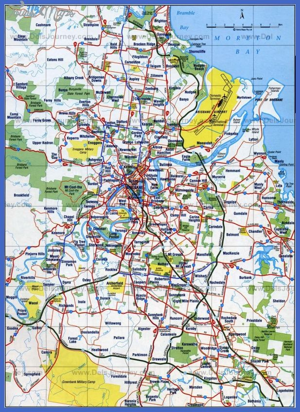 awesome Brisbane Map Tourist Attractions Tours Maps Pinterest