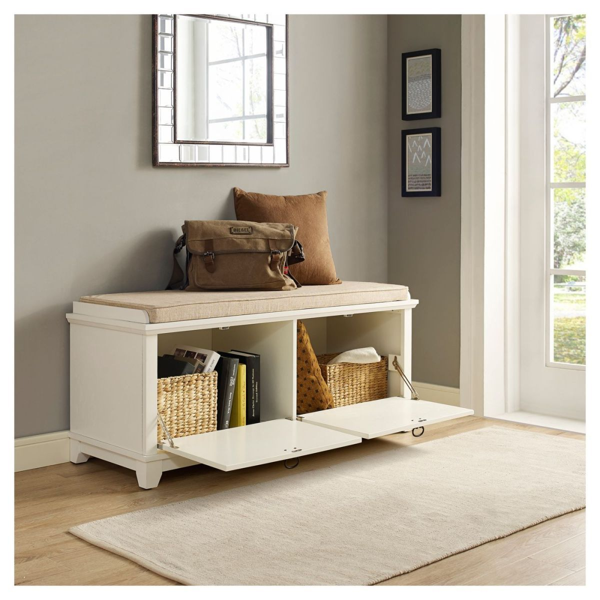 Get a white storage bench with drawers (12 stylish options