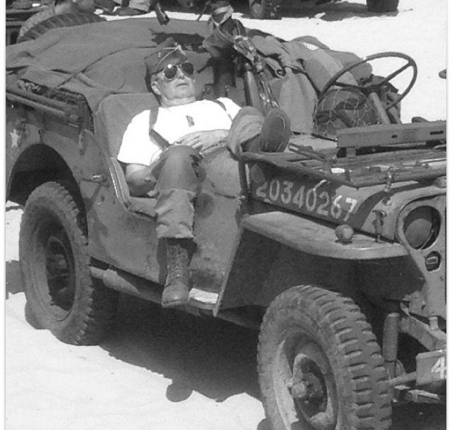 Reenactment Second World War. GI on  Weymouth beach