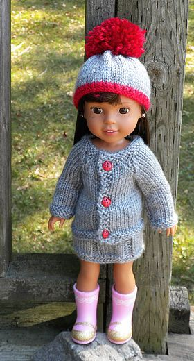Dollie Clothes Ww H4h Cardigan Set Doll Clothes Pinterest