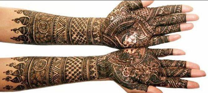 bridal mehendi designs 8