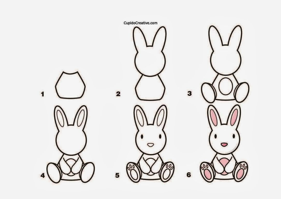 Kerajinan Anak Tk Sd Langkah Cara Menggambar Kelinci Mewarnai