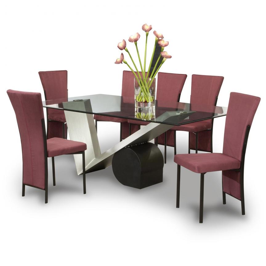 Elegant Modern Dining Set Charisma Contemporary Style Dining Room