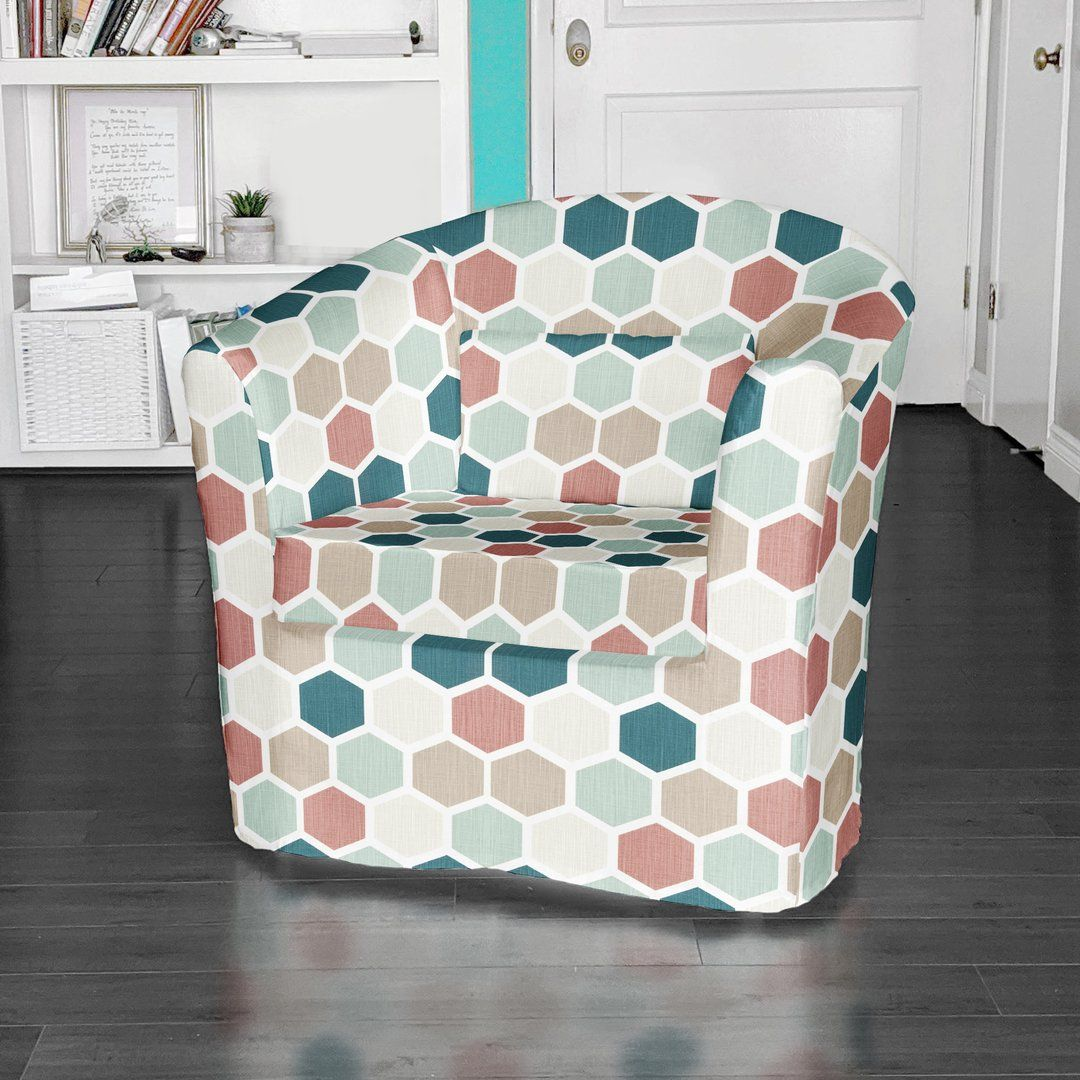 Ikea tullsta chair cover teal blush pink in