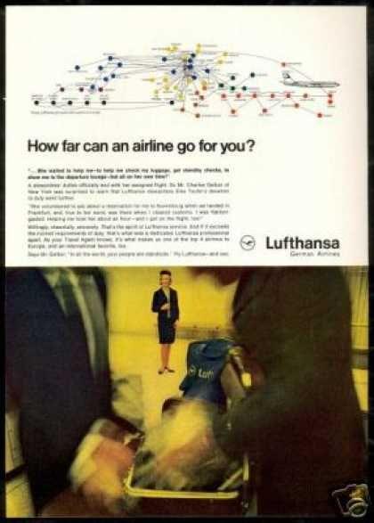 Lufthansa Airlines Stewardess Elke Teufel (1966)