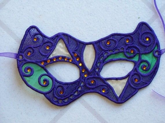 Lace Mask for Mardi Gras by bagandbaby on Etsy, $15.00