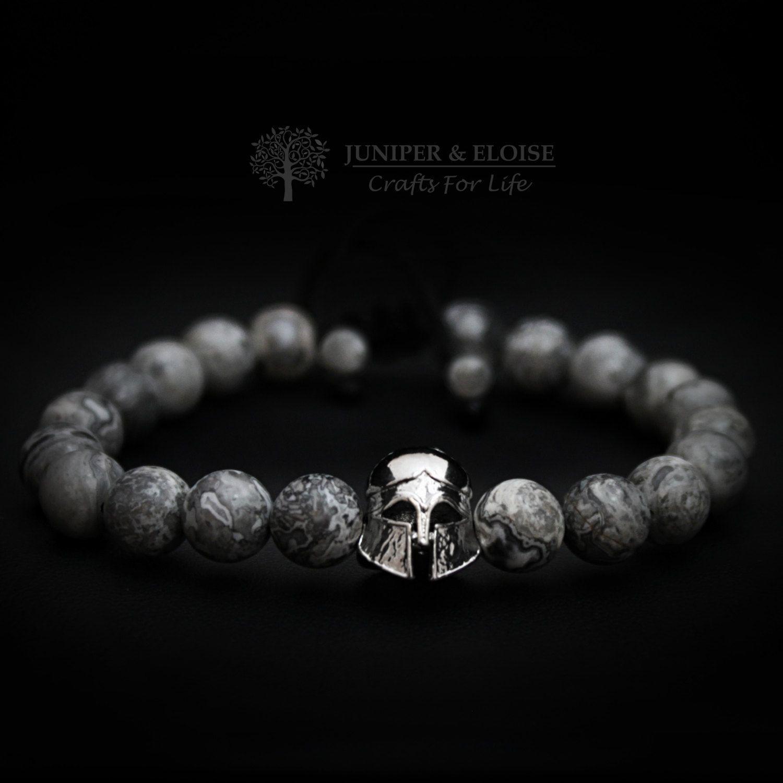 Helmet bracelet mens bracelet jewelry silver knights helmet