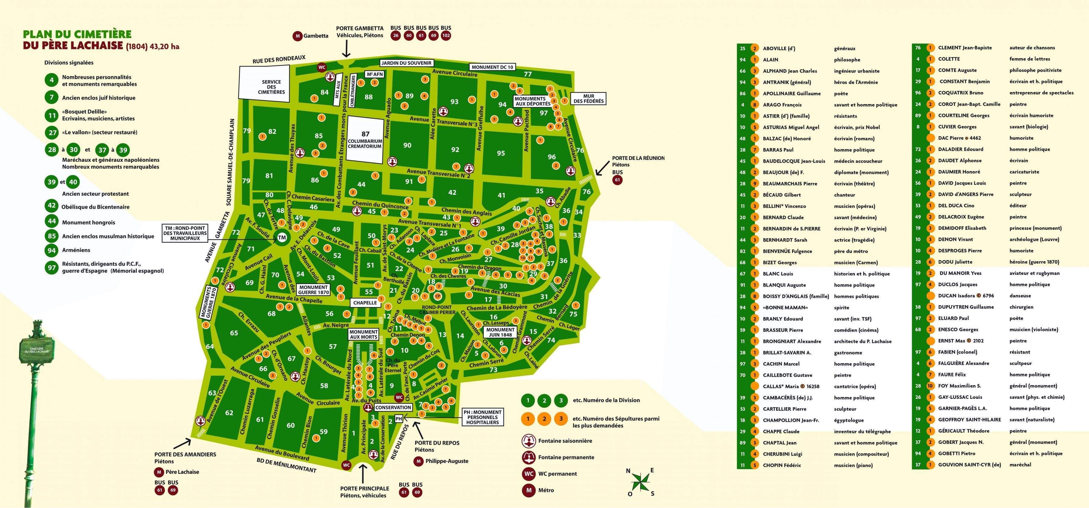 Map Of Pere Lachaise Cemetery Http Map Of Paris Com Monuments Maps Pere Lachaise Cemetery Map Pere Lachaise Cemetery Versailles Map Pere Lachaise